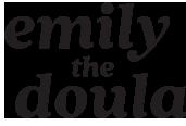 Emily The Doula Black Logo